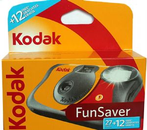 Kodak Fun Flash Disposable 35mm Color Print Camera with 39 Photos 2 PACK SPECIAL
